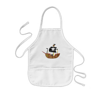 海賊船 子供用エプロン
