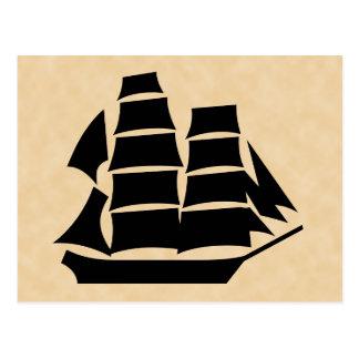 海賊船。 帆船 ポストカード