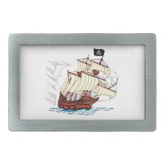 海賊船 長方形ベルトバックル