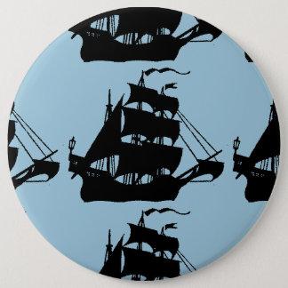 海賊船 15.2CM 丸型バッジ