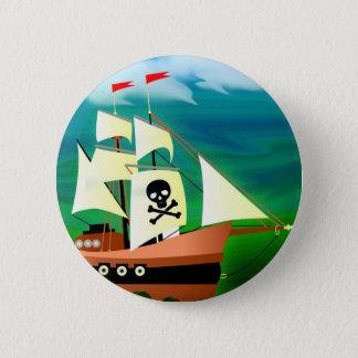 海賊船 5.7CM 丸型バッジ
