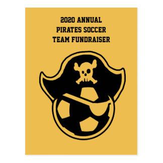 海賊青年サッカーチームまたはクラブロゴ ポストカード