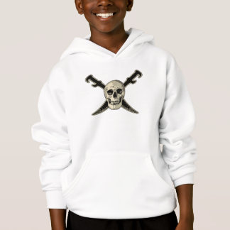 海賊(スカル) -子供のHanes ComfortBlend®のフード付きスウェットシャツの