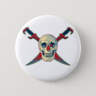 海賊(スカル) -標準、2つの¼のインチ円形ボタンの 5.7CM 丸型バッジ