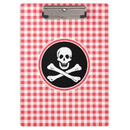 海賊; 赤と白のギンガム クリップボード