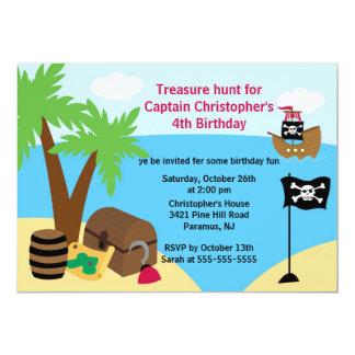 海賊Ahoy仲間の誕生日のパーティの招待状 カード