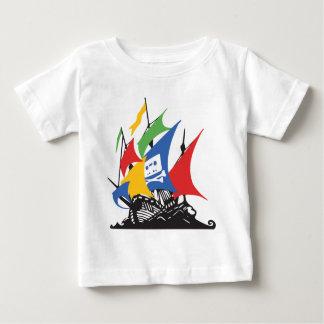 海賊GoogleのベビーのTシャツ ベビーTシャツ