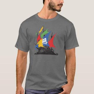 海賊Googleの暗い服装の人のTシャツ Tシャツ
