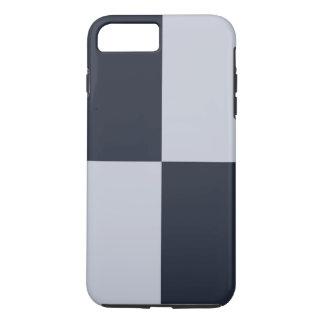 海軍および灰色の長方形のiPhone 8のプラスの堅い例 iPhone 8 Plus/7 Plusケース