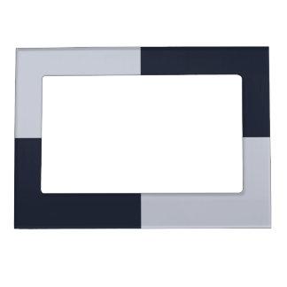 海軍および灰色の長方形フレーム マグネットフレーム