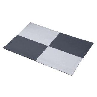 海軍および灰色の長方形 ランチョンマット