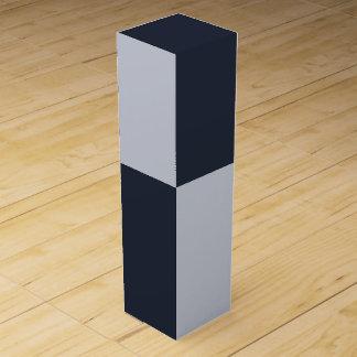 海軍および灰色の長方形 ワインギフトボックス
