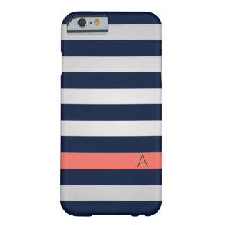 海軍および珊瑚のiPhone6ケース Barely There iPhone 6 ケース