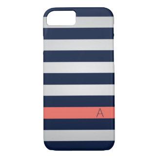 海軍および珊瑚のiPhone 7の場合 iPhone 8/7ケース