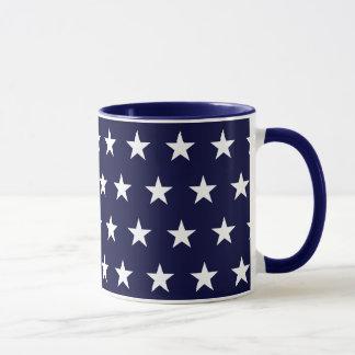 海軍および白い星 マグカップ