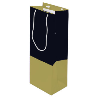 海軍および金ゴールドのワインのギフトバッグ ワインギフトバッグ