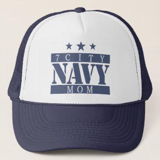 海軍お母さん-青いロゴ キャップ