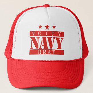 海軍がき-赤いロゴ キャップ