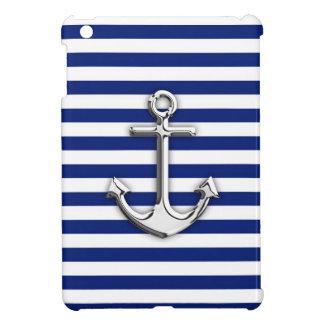 海軍のクロムいかりは縞で飾ります iPad MINIケース