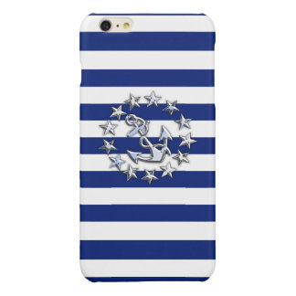 海軍のクロムヨットの旗のプリントは縞で飾ります