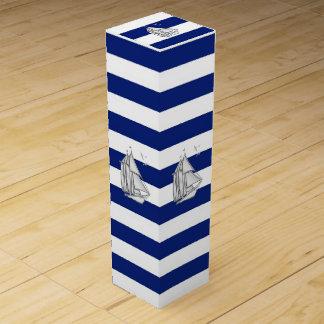 海軍のクロムヨットは縞で飾ります ワインギフトボックス