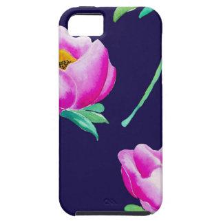海軍のピンクのシャクヤク iPhone SE/5/5s ケース