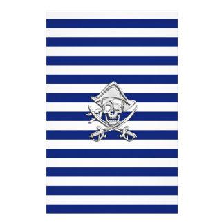 海軍の海賊のようなクロムは縞で飾ります 便箋