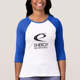 海軍または白(l)のソフトボールのワイシャツ tシャツ