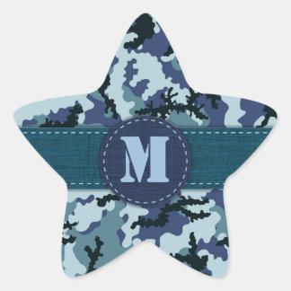 海軍カムフラージュ 星シール