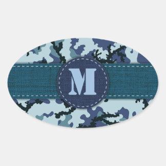 海軍カムフラージュ 楕円形シール