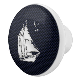 海軍カーボン繊維のプリントのクロムヨット セラミックノブ