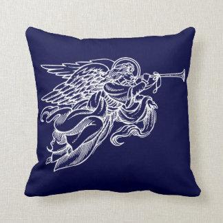 海軍クリスマスの枕の天使のヴィンテージの引くこと クッション