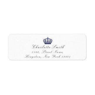 海軍グリッターRSVPの皇太子妃の花嫁の白 ラベル