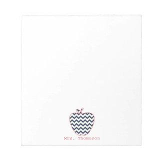 海軍シェブロン及びApple珊瑚の先生 ノートパッド