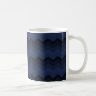 海軍ジグザグ形シェブロンは衰退しました コーヒーマグカップ