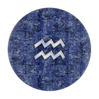 海軍デジタルカムフラージュのアクエリアスの(占星術の)十二宮図の記号 カッティングボード