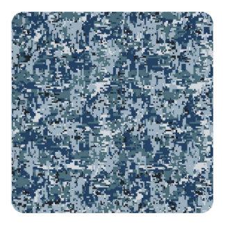 海軍デジタル迷彩柄のカムフラージュの装飾 カード