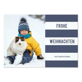 海軍バンドFrohe Weihnachten Fotokarte カード