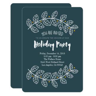 海軍ヒイラギのお洒落な休日のパーティの招待状 カード