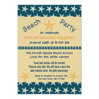 海軍ヒトデのビーチ-婚約パーティの招待 カード