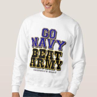 海軍ビートの軍隊-アメリカのゲーム--は行きます スウェットシャツ