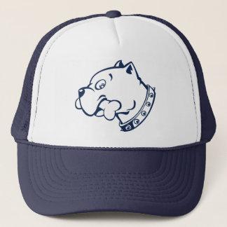海軍ピットブルの頭部のベクトル芸術-帽子 キャップ