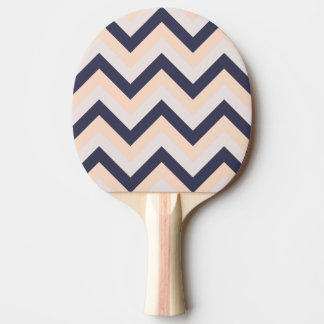 海軍ピンクの結婚式はシェブロンモダンなパターンを着色します 卓球ラケット