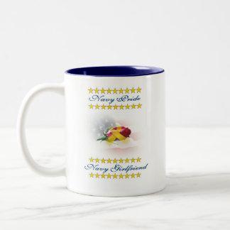 海軍プライド、海軍ガールフレンドのマグ ツートーンマグカップ