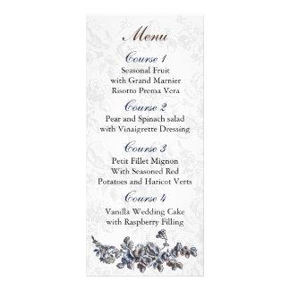 海軍ヴィンテージの花の結婚式 ラックカード