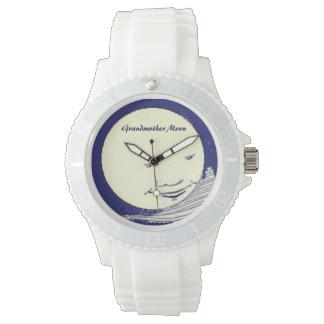海軍及び白の祖母の月 腕時計