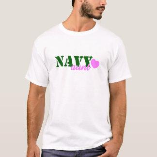 海軍叔母さんGreen Pink Heart Tシャツ
