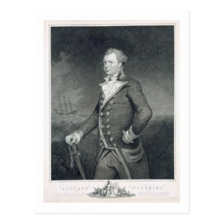 海軍大将のジョンMacbride (d.1800)ポートレートは刻みます ポストカード