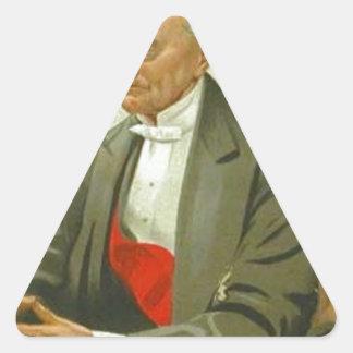 海軍大将のHastings Reginald風刺漫画 三角形シール