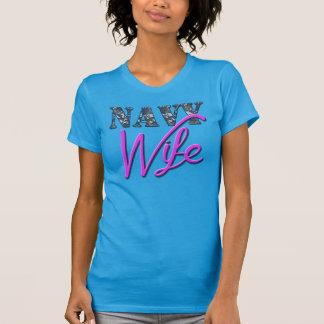 海軍妻、かわいいワイシャツ Tシャツ